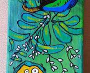 Tim Holtz Crazy Birds cards