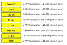 Feb Special Offers / Number plates on this months special offers