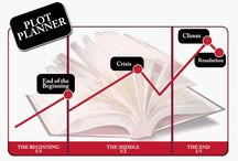 Plot Planners for Writers / Writers benefit from a visual representation of the plot / structure of your stories. The Plot Planner (and original plot board) shows how the 3 essential plots rise and fall together – 1) Dramatic Action 2) Character Emotional Development create 3) Thematic Significance.   When you begin planning your plot, your Plot Planner is likely sketchy with lots of gaps and dead-ends, but these will be smoothed over and filled in as you come to know your story and characters better.     / by Martha Alderson, Plot Whisperer