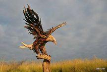 pajaros de madera