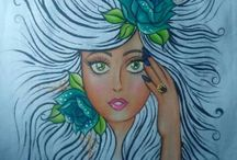 rostro cabellos al viento