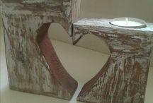 vela con madera reciclada
