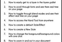 tutoriales de Fotoshop / pinceles ,motivos , estilos,  etc etc / by Ana carmen Modrego Lacal