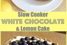 Favourite Slow Cooker Desserts and Cakes / My favourite slow cooker and crockpot dessert and cake recipes to try out