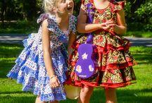Lovely handmade dresses by Miz Miz / Fotoshoot MiZ MiZ. Unique and handmade dresses EUR size 122.