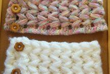 かぎ針編みのネックウォーマー