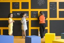 HOME // Kid Centric Space / Playrooms, basement & kid friendly places and spaces