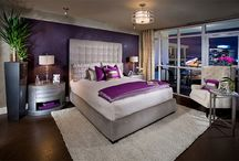 master bedroom with purple