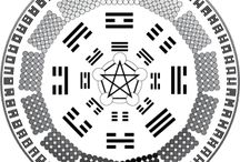 I CHING / The I Ching is an ancient Chinese manual of divination based on eight symbolic trigrams and sixty-four hexagrams, interpreted in terms of the fundamental polarity principles of yin and yang.