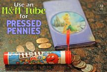 Pressed Pennies at Disney / Pressed Pennies are a popular (inexpensive!) souvenir from your travels!