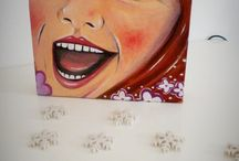 Dipinti Deco / Colorful paintings, illustrations, little stories.