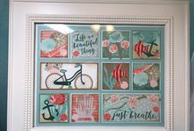 Framed Stampin Up Art