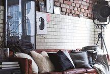 Feature walls / Brick, tile, paint