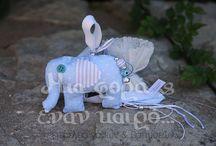 Το ελεφαντάκι - Elephant / Με θέμα το ελεφαντάκι...υφασματινες εφαρμογές!!