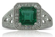 Emerald Desires / Emeralds were held as sacred by the Incas and Aztecs in South America, the Egyptian pharaohs, and ancient Hindus who all believed emeralds carried good luck and boosted well-being. Enjoy wearing the unmistakable green of this beautiful stone...