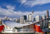CowTown / aka Calgary.  Pronounced: Calgry.  Hosted the 1988 Winter Olympics.  Annual celebration of cowboy culture known as the Calgary Stampede. Oil and gas reign supreme.  And those great big, beautiful mountains just up the road are our playground. / by Susan Megran