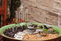 Mini Gardens / Tiny furniture and other miniature accessories help create a fantasy garden where characters like fairies and gnomes and come to visit!