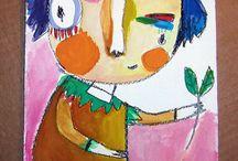 People drawings/paintings