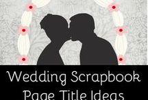 scrap booking for wedding