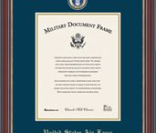 We love our U.S. Military / United States #military frames, display cases, award and certificate frames are designed to commemorate and recognize all military achievements and special honors. Frame an honorable discharge certificate, commission certificate, portrait, or other important documents. / by Church Hill Classics