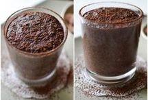 Banan,chia,kakao mléko
