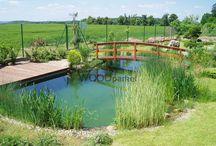 Realizace terasy u zahradního jezírka @woodparket / #woodparket #terasy #fotogalerie #WPC #zahrada