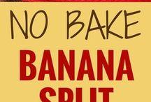 banana split no bake