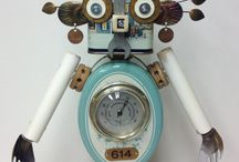 Junkie things / Steampunk, robots and assemblage.
