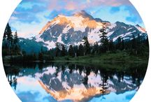 Mountain and lake landscapes