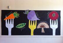 Výzdoba školní jídelny