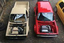 Volkswagen Caddy pickup / Volkswagen Caddy jest to dostawcza wersja Volkswagena Golfa MkI