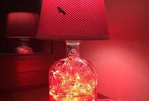 Бутильники Bottles light / Яркие, необычайно уютные, изысканные и завораживающие светильники из стеклянных бутылок.