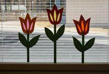 ikkunakoristeet silkkipaperityö