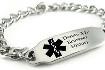 Delete My Browser History Bracelets / Delete My Browser History bracelets are a must have for all geeky gadget collectors.  This medical bracelet is sure to get a laugh or two and is a perfect for a funny Christmas Gift, Funny Birthday Gift, Funny Fathers Day Gift you name it.