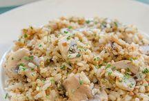 arroz con champiñones y quinoa