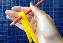 posturas para el lápiz
