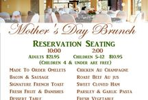 Holiday Brunches / We have annual Easter and Mother's Day brunches here at WHispering Pines and we would love to have you join us!