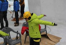 Red Fox team: Maria Tolokonina, ice-climbing