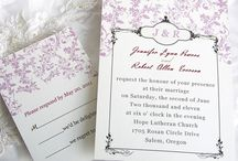InvitesWeddings / With great expectation for such a big day, couples commonly keep engaged in the sticky while amusing arrangement to build tangible and sweet memory for all the attendances. Of certain significance for attaching the basic mood of wedding themes and leaving profound impression on recipients at first sight, wedding invitations customarily act as a brilliantly finishing touch! / by InvitesWeddings