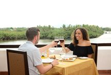 Sunset Grill Restaurant / Located in the 1st floor of River Breeze Restaurant and overlooking river view, Sunset Grill serves for Western cuisine with capacity 50 guests indoor and 30 guests outdoor. It is also an ideal venue for Grill and BBQ.