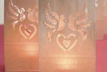 lanterne sac a bougie colombe  decoration mariage romantique blanche