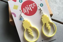 Miroo Laser cut, Acrylic Jewellery / FUN AND QUIRKY ACRYLIC JEWELLERY