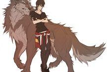 anime wolf!