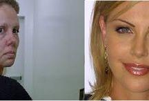 Celebrities -  Makeup Transformations