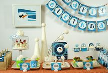 Winter 'ONE-derland' Birthday Party / a winter ONEderland-themed party for my 1yo son!