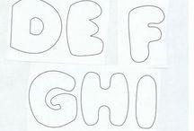 letters van stof