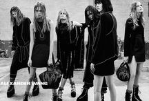 Alexander Wang Fall Ready to Wear 2015 Campaign / Set in a raw industrial, rave-like space, the Alexander Wang Fall 2015 Campaign reflects the collection's hard-edge sensibility, inspired by heavy metal & Goth subcultures. The campaign features models Anna Ewers, Molly Bair, Binx Leona Walton, Lexi Boling, Hanne Gaby Odiele, Sarah Brannon & Isabella Emmack, alongside singer Alice Glass & dancers AyaBambi.   Selected styles including the coveted Studded Mini Emile will arrive in Workshop Stores August 2015.