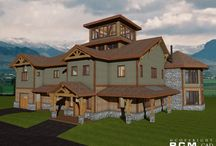 5700 sq. ft - Jefferson Trail / The Jefferson trail home is a 5700 square foot 4 storey high timber accent project to be built starting this winter in Idaho.