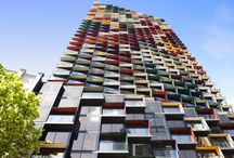 A'Beckett Tower - Melbourne VIC / Louvreclad made achievable the exterior sun screening design imagined by high-profile architect, Elenberg Fraser with the use of 347 sunshades and 15 different Dulux powder coat colours.