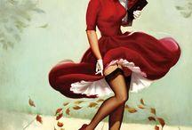 Pin-up / Пинап, пин-ап (англ. to pin up — прикалывать, то есть плакат, прикалываемый на стену) — изображение красивой, часто полуобнажённой, девушки в определённом стиле. В русском языке употребляется для обозначения конкретного стиля американской графики середины XX века.